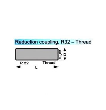Reduction coupling R 32-Thread